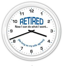 Retired SILENT Wall Clock - FUNNY RETIREMENT GREAT GIFT - Office Party