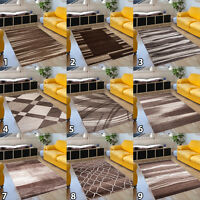 SMALL X LARGE SOFT PILE NEW BEAUTIFUL MODERN AREA RUGS FOR LIVING ROOM BROWN