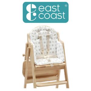 East Coast Nursery Baby & Kids Wipe Clean Soft Foam Highchair Insert - Grey Star