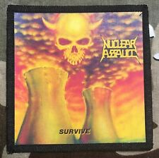 Nuclear Assault Survive Printed Patch N018P Over Kill Slayer Destruction