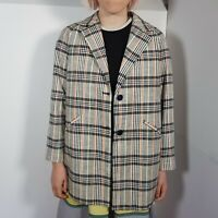 Zara Girls Checked Jacket Age 13-14 New with Tags RRP £34.99 Boxy 80's