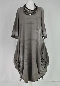 KEKOO Washed beige  parachute hitched dress size M/L