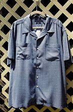 Tommy Hilfiger Navy Blue  White Men's XXL Pure Silk Two Pocket Button Up Shirt