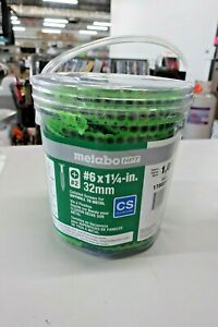 Metabo HPT Collated Screws for Drywall To Wood #6 x 1 1/4- in. 32 mm