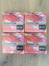 20 Discs TDK 8cm Mini SCRATCHPROOF 2x 1.4gb Dvd-rw 30min Singledsided Camcorders