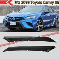Fits 2018 Toyota Camry SE Front Upper Bumper Trim Molding Driver& Passenger Side