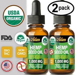 Best Hemp Oil Drops for Pain Relief, Stress, Sleep (PURE & ORGANIC) - 1000 mg