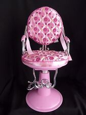 "Beauty Salon shop Chair Battat fits 18"" American Girl doll our generation Pink"