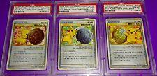 Pokemon Pikachu Victory Medal 1St 2Nd 3Rd Japanese Promo Psa 10 s 3 Card Lot Set
