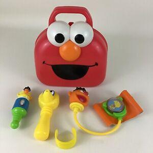 Sesame Street Elmo Giggle Doctor Medical Kit Carry Case & Instrument 2006 Mattel