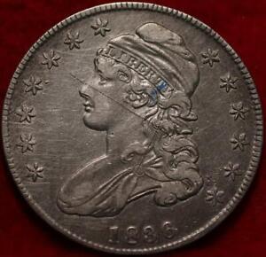 1836 Philadelphia Mint Silver Capped Bust Half Dollar