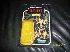 Vintage Star wars jedi 77 back Teebo original cardback and bubble