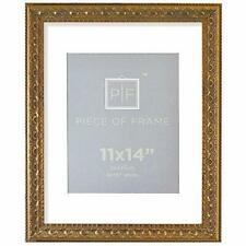 , 11x14 Ornate Finish Photo Frame, with White Mat for 8x10 Picture & Bronze