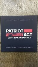 PATRIOT ACT WITH HASAN MINHAJ NETFLIX EMMY FYC DVD + BOOKLET 4 EPISODES. New.