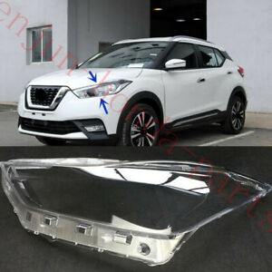 Left Side Headlight Cover Clear PC With Glue replace For Nissan Kicks 2018-19AA