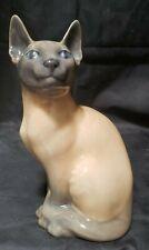 "Royal Copenhagen Siamese Cat Figurine 3281 - 7 1/4"" Tall"