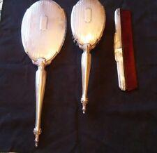 Antique Webster Co. Sterling Silver Vanity Set - Brush, Comb and Handheld Mirror
