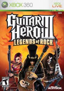 Guitar Hero III 3: Legends of Rock Microsoft Xbox 360 X360 Game