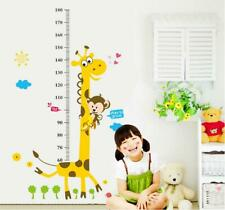 Wall Sticker Kid Height Chart Measure Giraffe Monkey Children Room Nursery Baby