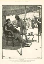 1890-ANTIQUE PRINT Fine Art Merveilleux Aventures Phra phénicien Paget (176)