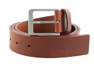 Calvin Klein CK Vital 35MM Belt W90 Gürtel Accessoire Dark Tan Braun Neu