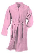 Damen Herren Bademantel rosa Morgenmantel Sauna Frottee Baumwolle Schalkragen
