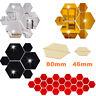12Pcs 3D Hexagon Wall Stickers Mirror Removable Acrylic Art DIY Home Decor Decal