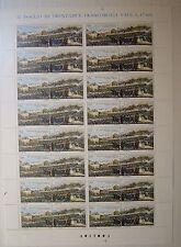 Italia 1989 Ferrovia Napoli Portici 550 lire Foglio Intero   MNH**
