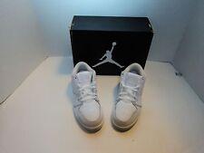 Kids Jordan 1 Flight 2 Low 654953 100 White Silver 100% Original Brand New
