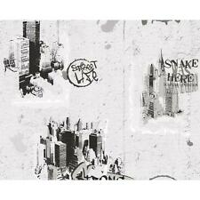 NEW AS CREATION GRAFFITI PATTERN NYC PAINTED TEENAGER CHILDRENS WALLPAPER
