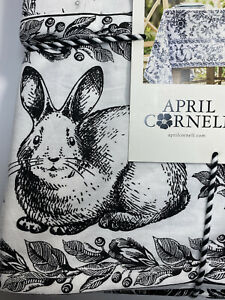 "April Cornell Felicity Bunny Tablecloth 60""x 84 "" Toile Floral French Country"