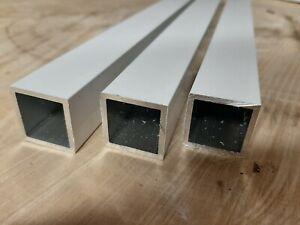 Aluminium Vierkantrohr Quadrat-Rohr Hohlpofil Weiß Matt RAL 9016 Pulverbeschicht
