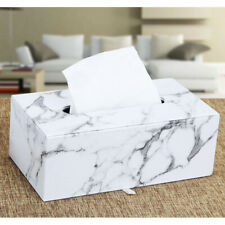 Home Decor Chic Kleenex Box Holders PU Leather Tissue Box Cover