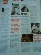 Clipping Coupure de Presse 1997 Rimbaud Verlaine les amours maudites
