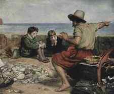 A4 Photo Millais John E 1829 1896 Millais 1908 The Boyhood of Raleigh Print Post