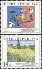 REPUBBLICA Ceca 1993 MIRO/VAN GOGH/Artisti/arte/DIPINTI/PEOPLE 2v Set (n39413g)