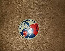 Vintage 1942 Original Dc Comics Superman Tim Club Members Pinback Button