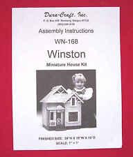 Dura-Craft  *WINSTON COTTAGE* WN-168  Dollhouse Instructions