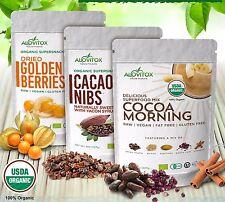 GOLDEN BERRIES CACAO NIBS COCOA Morning 24 oz Antioxident Raw Organic Alovitox