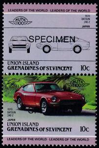 St Vincent Grenadines Union Is 144 Specimen o/p MNH Car, Datsun 240 Z