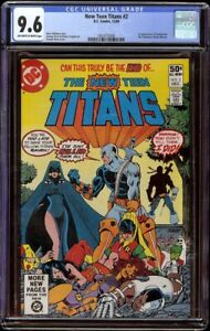 New Teen Titans # 2 CGC 9.6 OW/W (DC, 1980) 1st appearance Deathstroke