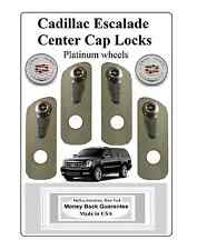 Cadillac Escalade center cap locks for platinum wheels (Centercaplocks.com)