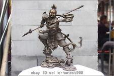 China Myth Pure Bronze Journey to the West NeZha Nalakuvara Warrior God statue