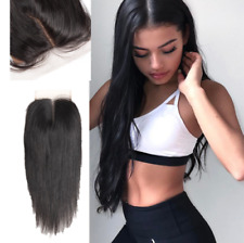 8A Peruvian Virgin Remy Human Hair Unprocessed 4*4 Silk Straight Lace Closure