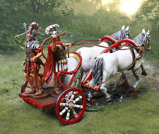 COLLECTORS SHOWCASE ROME 43AD ROMAN CHARIOT WITH CHARIOTEER & PILUM THROWER MIB