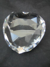 """lead crystal Rosenthal signed small heavy heart paperweight 3"""" x 3"""""""