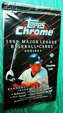 1999 TOPPS CHROME Sealed Series 1 baseball pack Ryan Jeter Griffey REFRACTOR ???