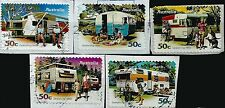 ˳˳ ҉ ˳˳AU491 Australia Complete set 2007 different used Trailer Campers