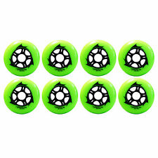 90mm Inline Skate Wheels for speed & Hockey (Trurev Draco - Pack of 8)