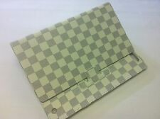 Ipad 2 3 4  Stand Case Cover White Checkered Design USA Seller